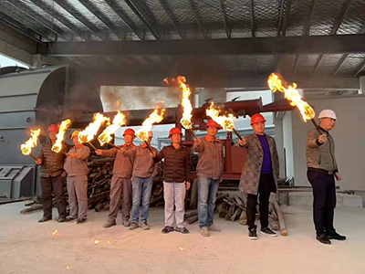 600t/d lime production line EP project successfully ignited